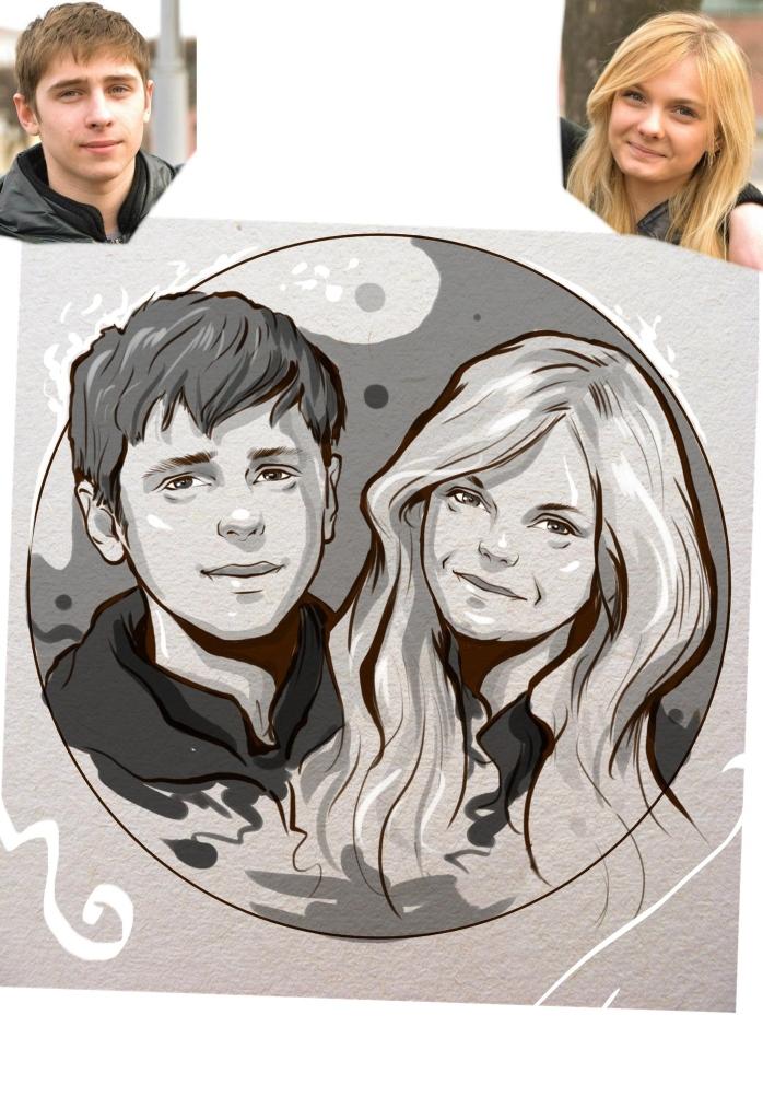 Заказать портрет на годовщину свадьбы в Вологде