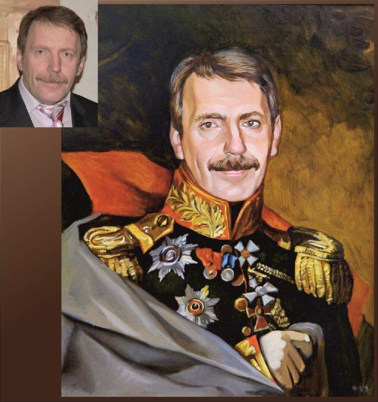 Настоящий портрет маслом на заказ в Вологде…