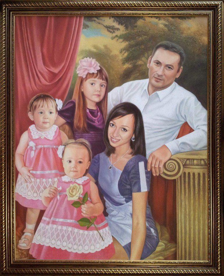 Семейный портрет маслом в Вологде — правильная традиция…