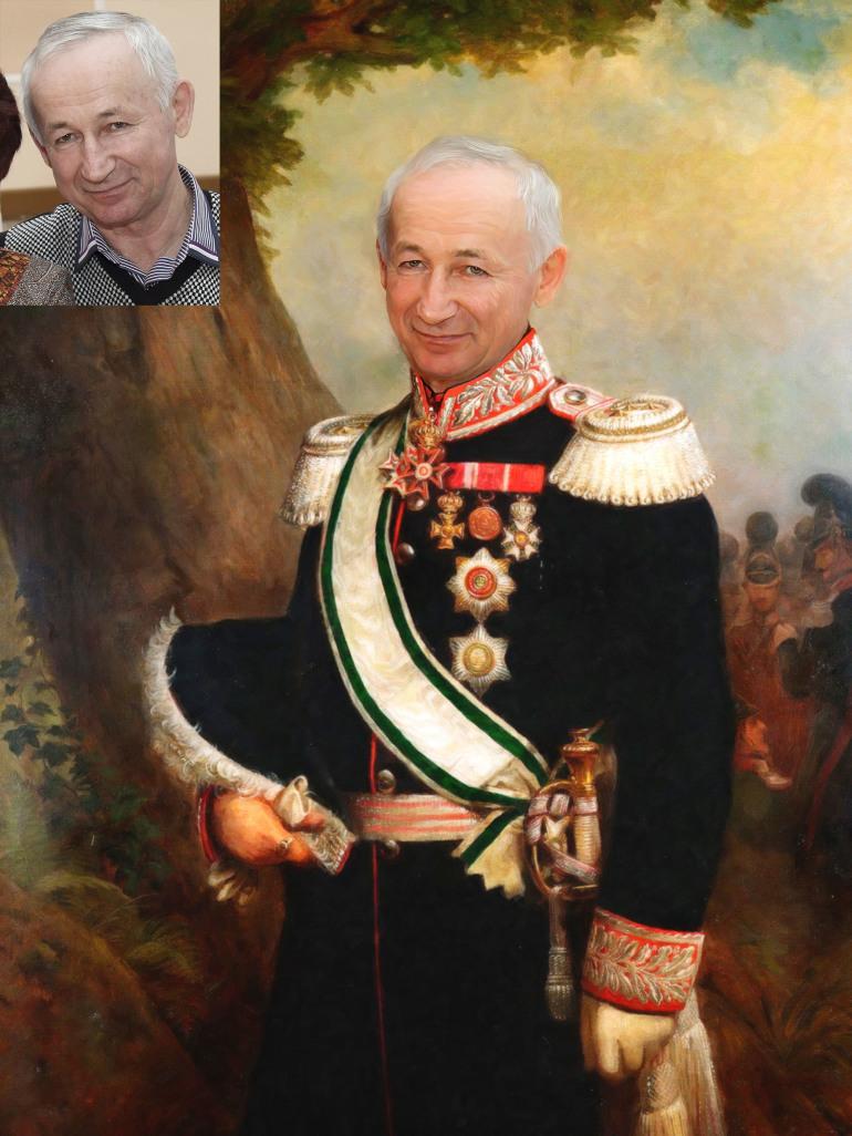 Где заказать исторический портрет по фото на холсте в Вологде?