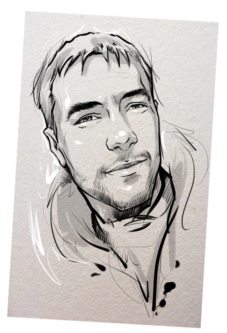 Портрет карандашом любимому мужу в Вологде…