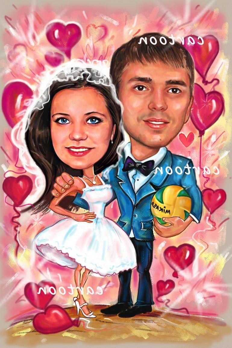Свадебный шарж с оригинальным сюжетом в Вологде!