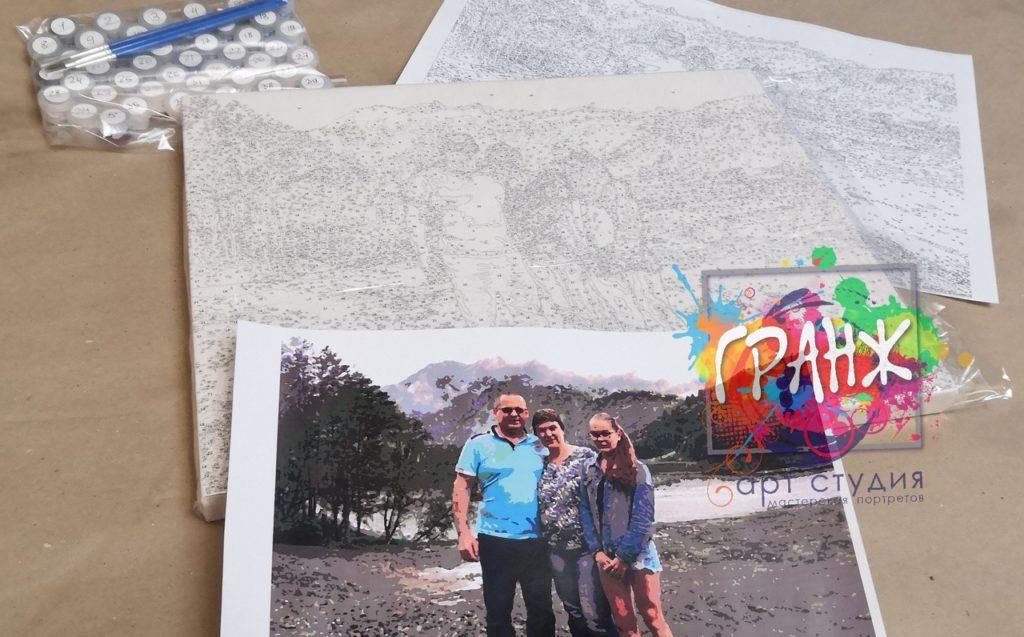 картин по номерам на холсте по фото в Вологде